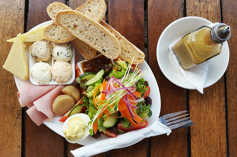 ploughman's lunch with salad