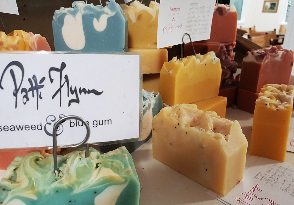 colourful handmade soaps